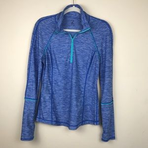Z by Zella Blue Pullover Athletic Workout Shirt